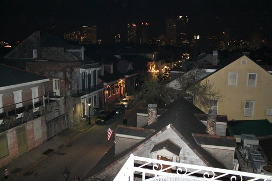 Lafitte Guest House:                   The balcony view