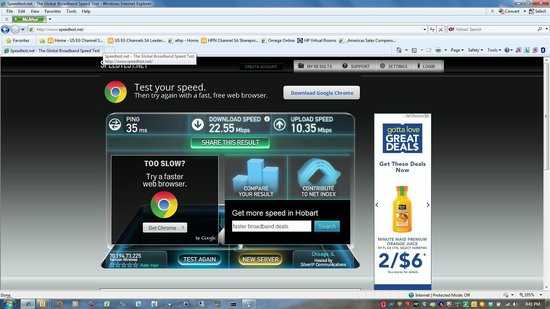 W Chicago - City Center: 1 of 2 internet pics - the fast one is from my Verizon card, the slow from hotel internet