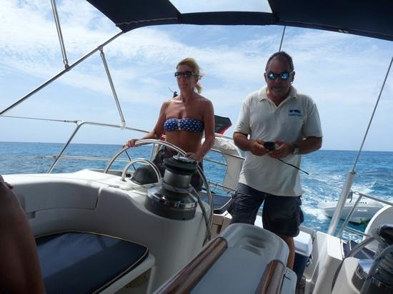Adventure Caribbean Yacht Charter:                   steady as she goes