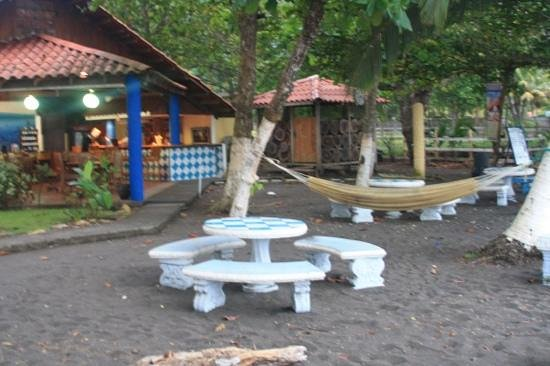 Hotel Fuego del Sol:                   massage shed and available hammocks