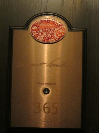 The American Club: Hotel Suite Door