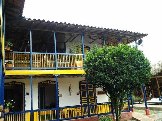 Hacienda Combia: Vista al piso superior
