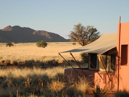 Sesriem, Namibia: Zelt mit Ausblick