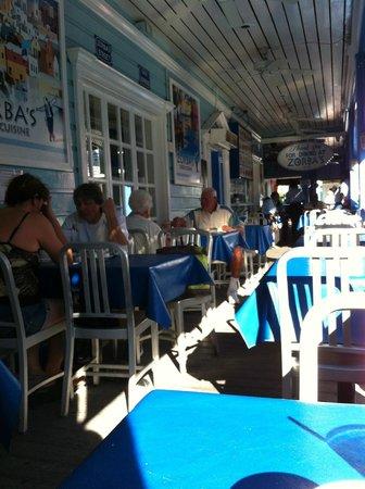 Zorba's Greek Restaurant :                   The View