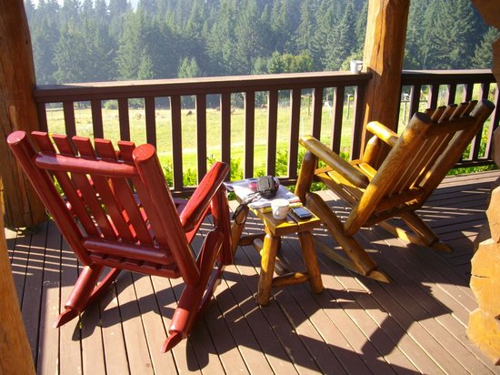Sakura Ridge - The Farm and Lodge:                   Relax on the porch