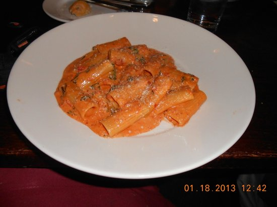From The Boot: Rigatoni Vodka YUMMMMM!!!