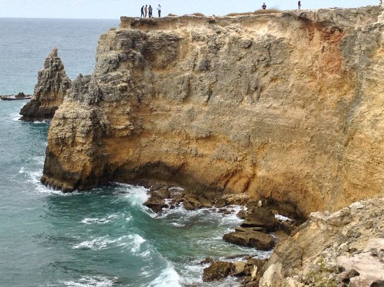 Playa Sucia:                   The cliffs by the lighthouse