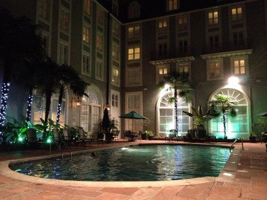 Bourbon Orleans Hotel:                   Courtyard heated outdoor pool