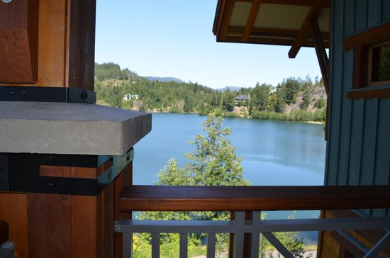 Nita Lake Lodge:                   View from the balcony