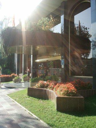 Hotel BLAUMAR:                   the entrance