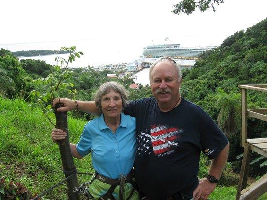 Jungle Top Zipline Adventure:                   Whew, we made it!