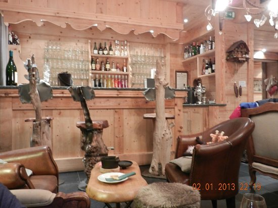 Chalet Hotel Hermitage Paccard : Le bar