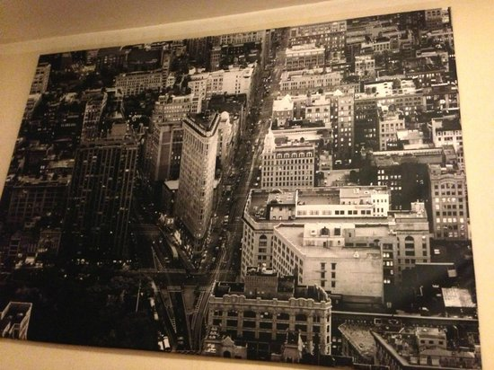 Da Vinci Hotel:                   Amazing large canvas photo above bed