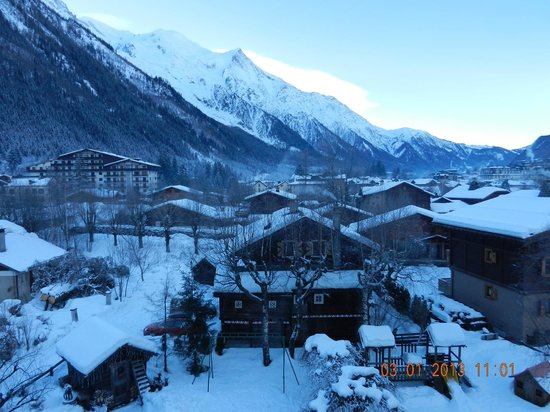 Chalet Hotel Hermitage Paccard : Mont Blanc (matin)