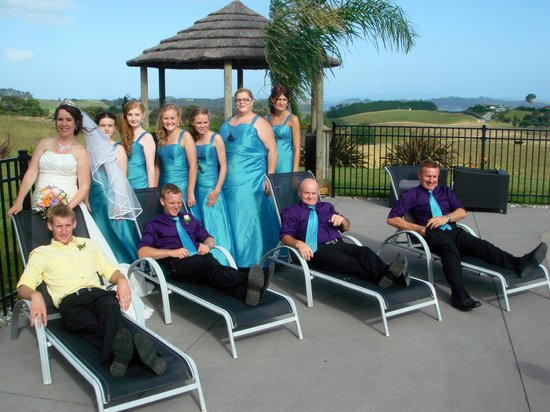 Swallows Ridge:                   Our bridal party at the poolside