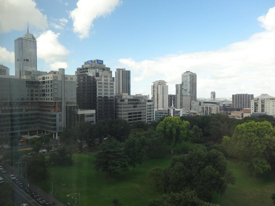 Radisson on Flagstaff Gardens:                   10th floor view from garden side room