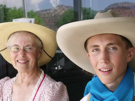 Savage Point Bed & Breakfast: Cowboy & his grandma at The Western Legends Celebration