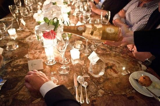 Bouley Restaurant:                   Bouley Chef's Pass - The 900lb petrified wood table
