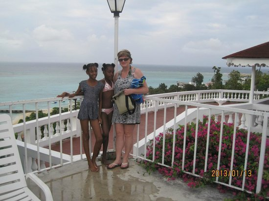 Montego Bay Club Resort:                                     This is the view from the pool, my 2 new friends wanted thei