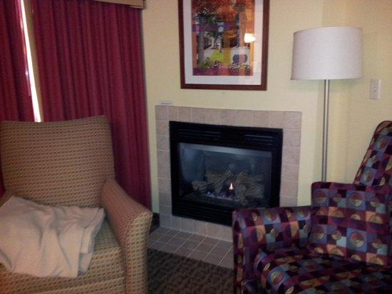 Residence Inn Boston Franklin:                                     fireplace