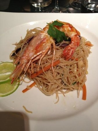 F.I.S.H. FINE INTERNATIONAL SEAFOOD HOUSE: Noodles piccanti con gamberi
