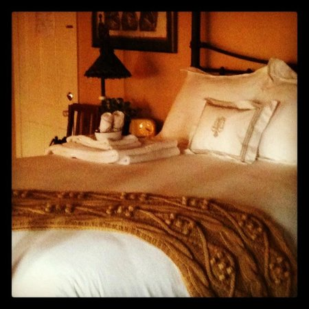 Vintage Gardens Bed & Breakfast:                   Extra-comfy bed!