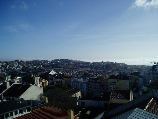 The House: Morning View of Lisbon from the rooftop terrace