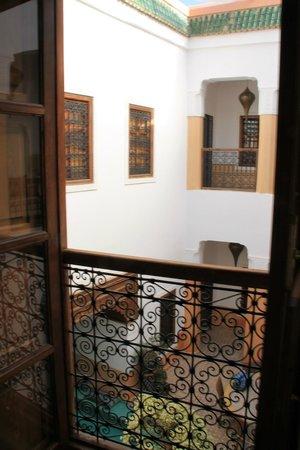 Riad Al-Bushra:                   View from the Blue Room