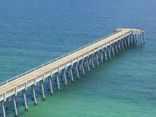 Summerwind Resort:                   Amazing View of the New Pier from our Balcony of 1302E Inn at the Summerwind