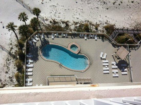 Summerwind Resort:                   One of the 3 pools, view from our balcony 1302E