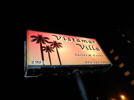 Vistamar Villa:                   sign