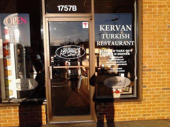 Kervan Kebab House:                   Front Entrance