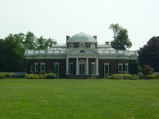 Thomas Jefferson's Monticello: Back of Monticello