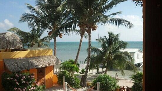 Seaside Cabanas:                   morning view (room 4?)