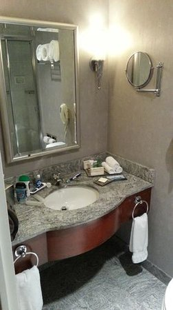 Hilton Boston Back Bay: Spacious bathroom