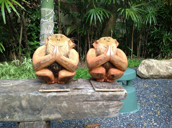 Fair House Villas & Spa: two monkeys