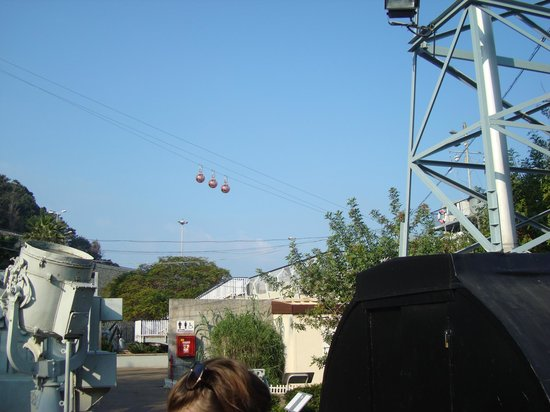 Clandestine Immigration and Naval Museum : Teleferique next to museum
