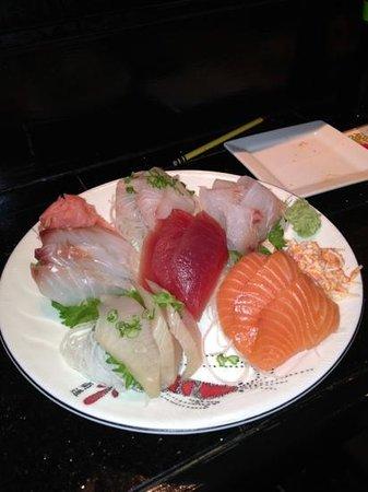 Ginza Sushi Bar & Korean BBQ:                   sashimi dinner