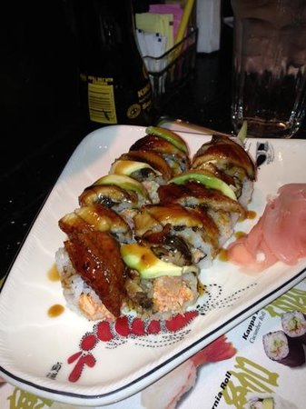 Ginza Sushi Bar & Korean BBQ:                   samurai roll with eel instead of tempura fried