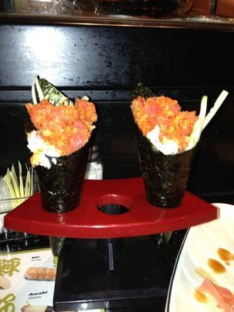 Ginza Sushi Bar & Korean BBQ:                   spicy tuna hand rolls- the best!!