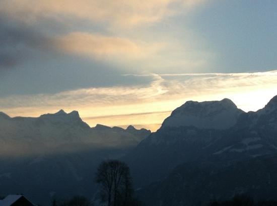 Swiss Holiday Park :                   evening sky from room 319