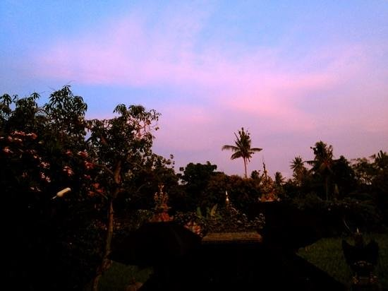 Bayu Guest House:                                     sunset from bayu guesthouse's breakfast veranda