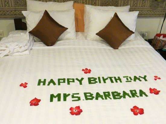 Victoria Xiengthong Palace:                   Birthday surprise from the beautiful housekeeping staff !