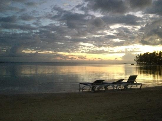 Fantasy Island Beach Resort:                   pic from the beach at sunset