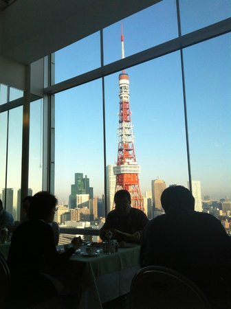 The Prince Park Tower Tokyo: 朝食レストランからの眺め