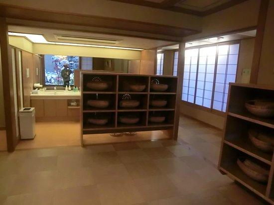 Sosennoyado Suhaku: 風呂の更衣室