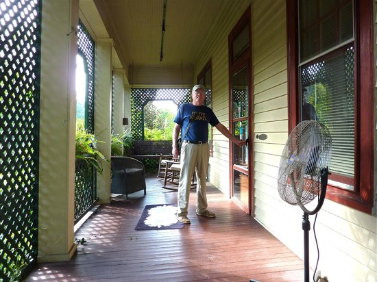 The Lattice Inn:                   Front porch of the B&B