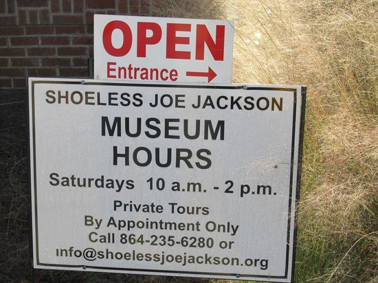 Shoeless Joe Jackson Museum: Hours of Operation