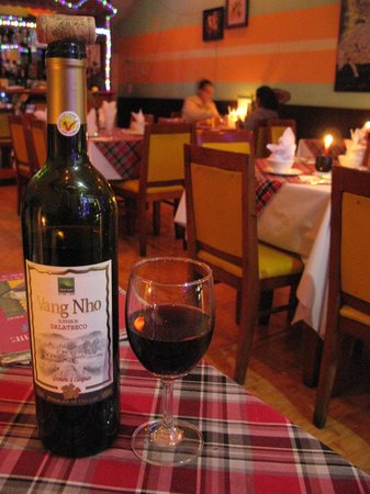 Tu Anh's Peace Cafe: A local wine we actually really enjoyed!