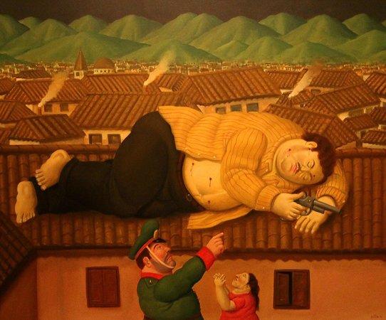 Museo de Antioquia: La Muerte de Pablo Escobar by Botero